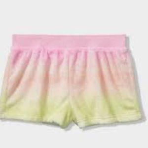 Victoria's Secret Pink fuzzy tie dye shorts